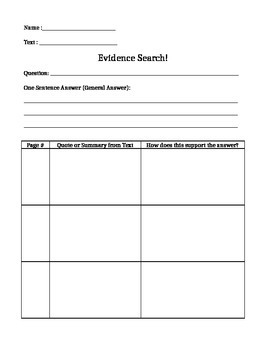 Evidence Search