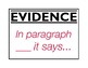 Evidence Sentence Stems - Kate in the Classroom