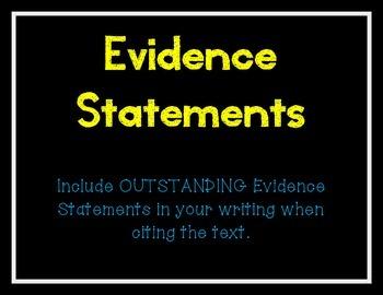 Evidence Statements