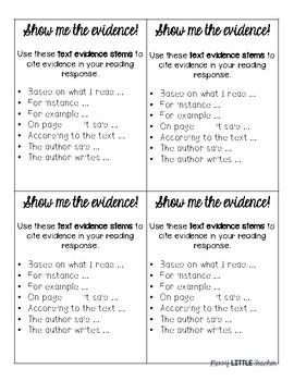 Evidence Stem Cards