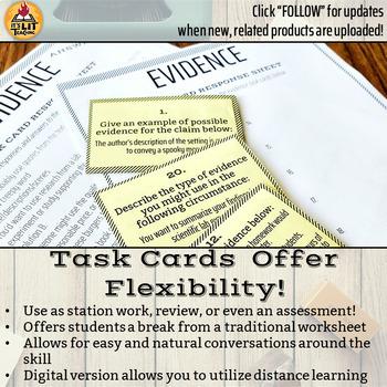 Evidence Task Cards (C-E-R Practice)