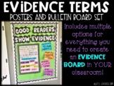 Evidence Term Posters Bulletin Board Set