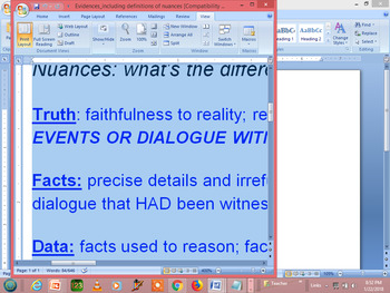 Evidence - Types and Examples for teens