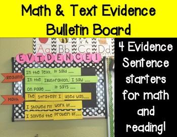 Evidence Words Bulletin Board