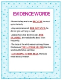 Evidence Words for Open Ended Questions