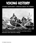 Evidence about the Vikings, Student Worksheet