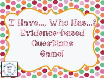 Evidence-based Questions Game