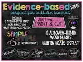 Evidence-based Writing Terms-Chalkboard Bulletin Board Display
