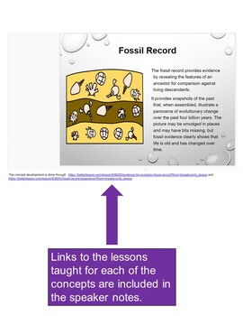 Evidence for Evolution Foldable and Slide Deck (Review)