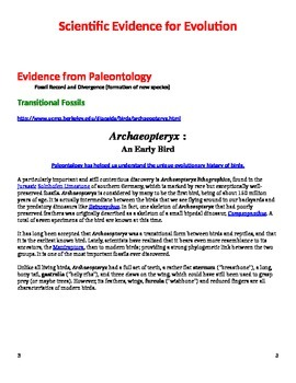 Evidence for Evolution Guided Lecture/Film Guide *Editable*