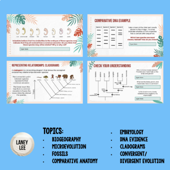 Evidence for Evolution PPT + Student Notes