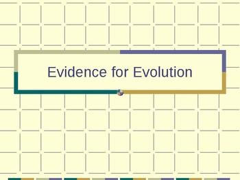 Evidence for Evolution Presentation