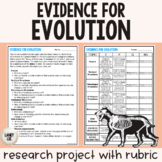 Evidence for Evolution - Research Project