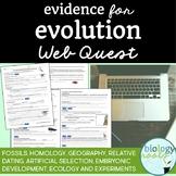 Evidence for Evolution Webquest