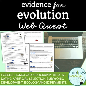 evidence for evolution webquest by biology roots tpt. Black Bedroom Furniture Sets. Home Design Ideas