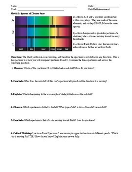 Assessment: Red-Shift of Galaxy Light (Evidence for the Big Bang) - NGSS Aligned