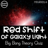 Red-Shift of Galaxy Light: Evidence for the Big Bang -- Qu