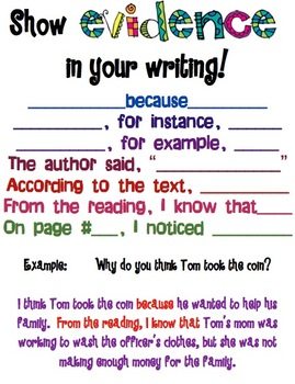 Evidence in Writing Poster
