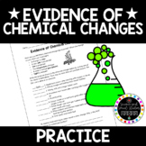Evidence of Chemical Changes worksheet