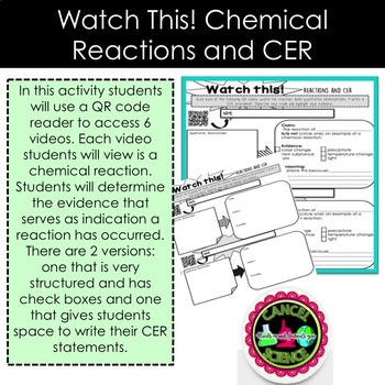 Evidence of Chemical Reactions-Watch It!