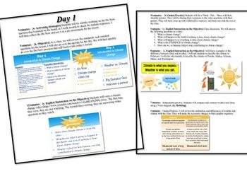 Evidence of Climate Change Unit Lesson Plan
