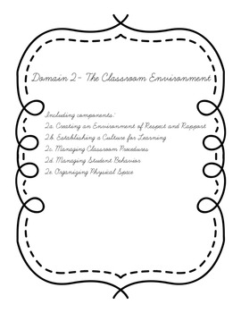 Evidence of Effective Teaching (Danielson Framework) Binder Dividers