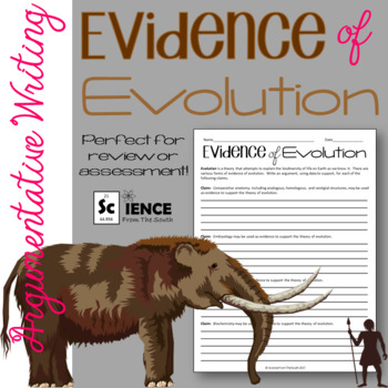Evidence of Evolution Argumentative Writing Assignment for Review or Assessment