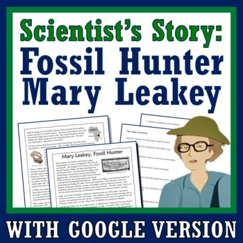 Evidence of Evolution Fossils Article and Questions Worksheet (Mary Leakey)