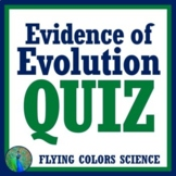 Middle School Evidence of Evolution QUIZ (2 Versions) NGSS MS-LS4-2 MS-LS4-3