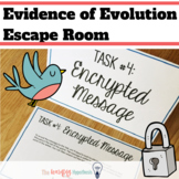 Evolution and Natural Selection Activity. Escape Room. Dig