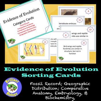 Evidence of Evolution Task Cards with BONUS Mini-Quiz for FREE!!