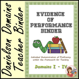 Danielson Evidence of Performance Binder
