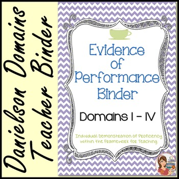 Danielson Evidence of Performance Binder (Cafe Chevron)
