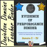 Danielson Evidence of Performance Binder (Chalkboard)