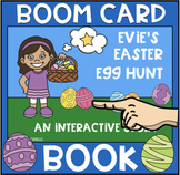 Evie's Easter Egg Hunt Boom Book (Boom Card Activity)  Dis