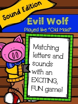 Evil Fox Game-Matching Letters and Initial/Ending Sounds (Played like Old Maid)