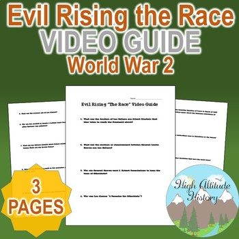 """Evil Rising """"The Race"""" Original Video Guide Questions"""
