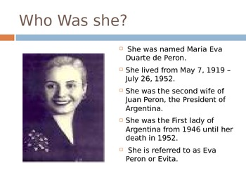 Evita, Her Life