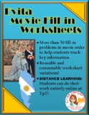 Evita Movie Worksheets -- Cloze (Fill-in) Activity
