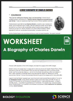 Evolution - A Brief Biography of Charles Darwin