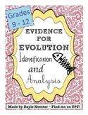 Evolution Activity - Evidence for Evolution Identification