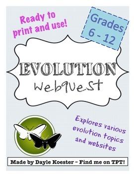 Evolution Activity - Evolution Webquest