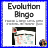 Evolution Bingo Vocabulary Review Game