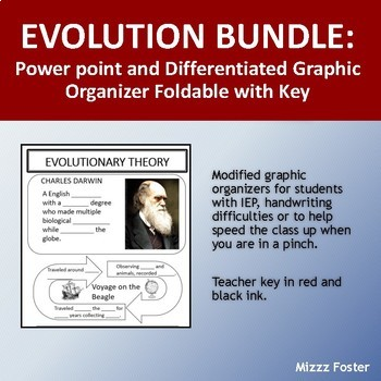 Evolution Bundle: Power Point and Graphic Organizer Foldable with Key