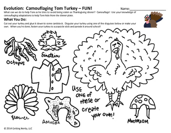 Adaptations Thanksgiving Activity