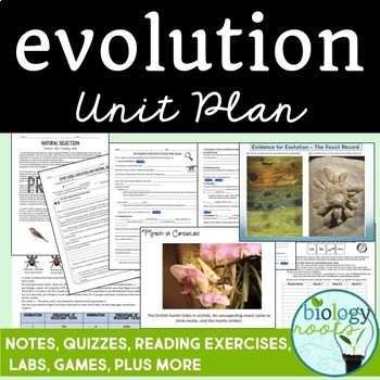 Evolution Unit Bundle- Distance Learning