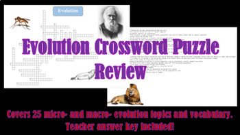 Evolution Crossword Puzzle Review