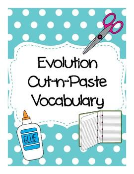 Evolution Cut-n-Paste Vocabulary