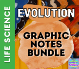 BIOLOGY: Evolution Graphic Notes Bundle! (INB or Mini-Anchor Chart) NGSS!