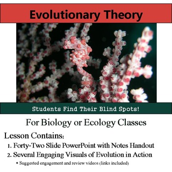 Camouflage - Evolutionary Theory Power Point and Notes Handout